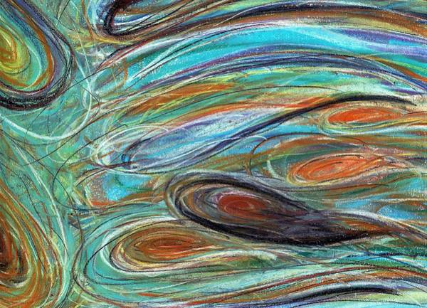 Pastel - Jupiter Explored - An Abstract Interpretation Of The Giant Planet by Angela Rath