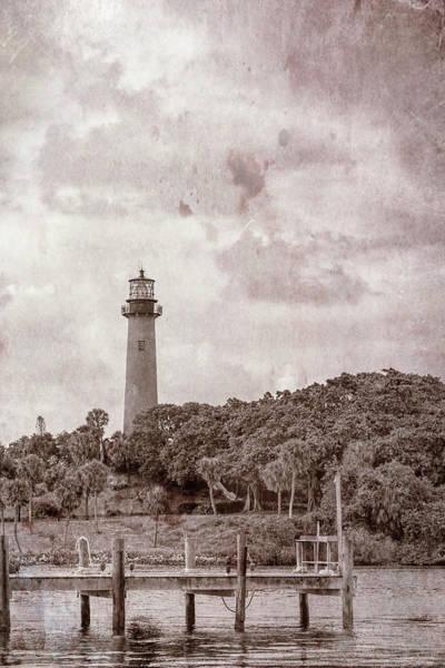 Photograph - Jupiter Inlet Light, Florida Vintage by Kay Brewer