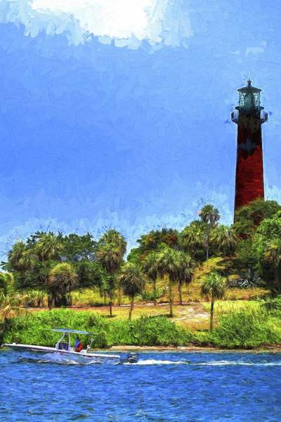 Photograph - Jupiter Inlet Lighthouse Painting by Carol Montoya
