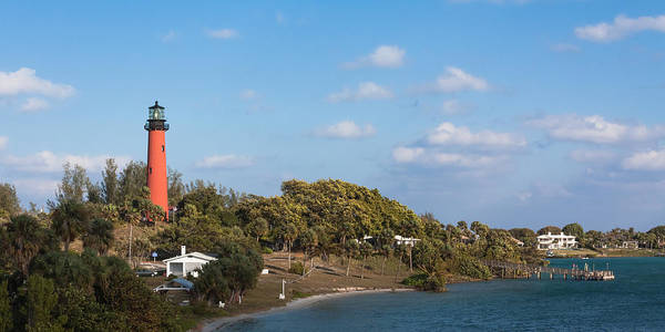 Photograph - Jupiter Lighthouse And Inlet by Ed Gleichman