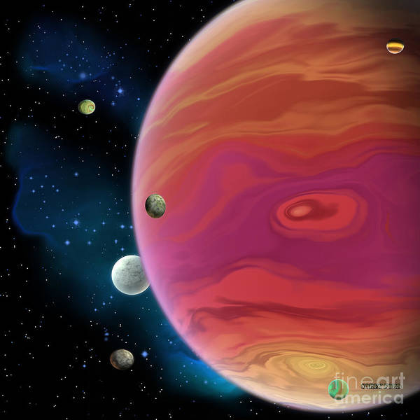 Wall Art - Painting - Jupiter Planet by Corey Ford