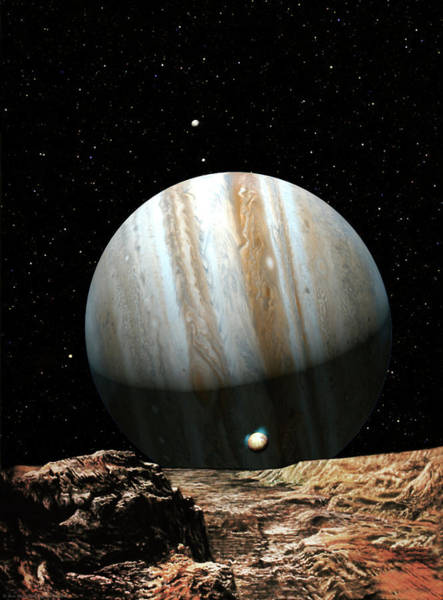 System Painting - Jupiter Seen From Europa by Don Dixon