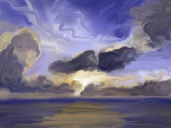 Painting - Jupiter Sunrise by Jean Pacheco Ravinski