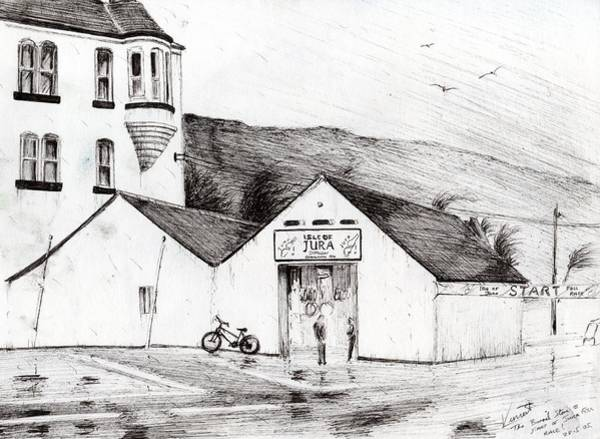Great Britain Drawing - Jura Race Start Whiskey Distillery by Vincent Alexander Booth