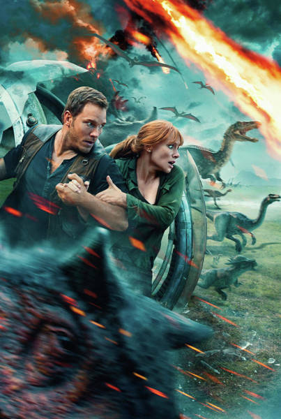 Wall Art - Digital Art - Jurassic World Fallen Kingdom by Geek N Rock