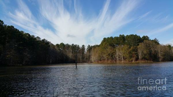 Lake Juliette Photograph - Just Another Day Out Fishing  by Donna Brown