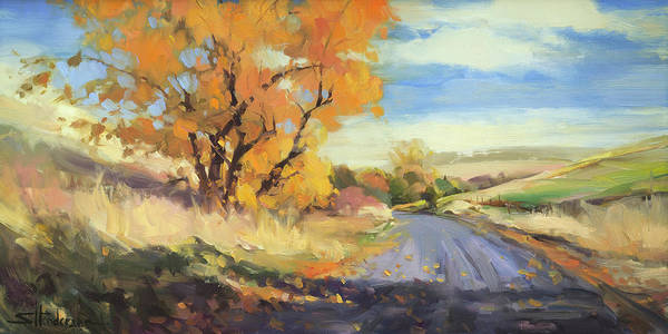 Wall Art - Painting - Just Around The Corner by Steve Henderson