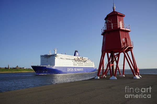 Ferry Photograph - Just Arriving by Smart Aviation