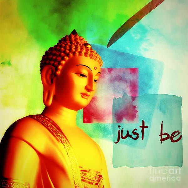 Mixed Media - Just Be by Lita Kelley