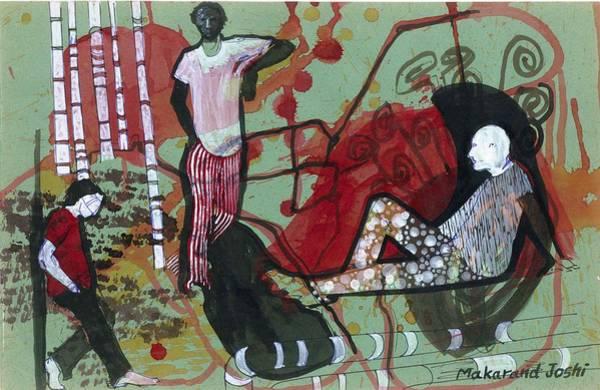 Mumbai Painting - Just Chill by Makarand Joshi