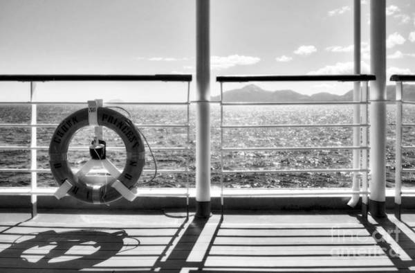Princess Cruise Lines Photograph - Just Cruising 2 Bw by Mel Steinhauer