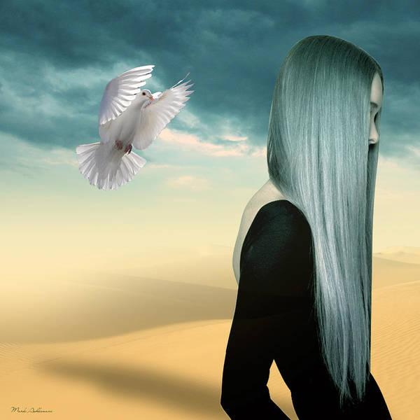 Dove Digital Art - Just Go  by Mark Ashkenazi