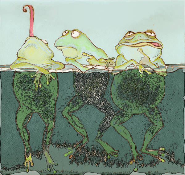 Amphibian Wall Art - Mixed Media - Just Hanging by Peggy Wilson