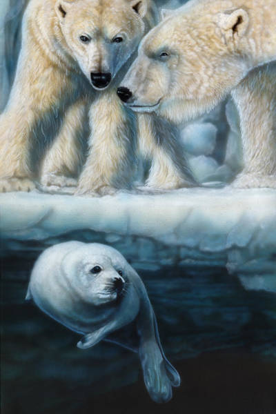 Inuit Painting - Just Listening by Wayne Pruse