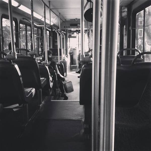 Bus Photograph - The Bus Life by Maria Meeds