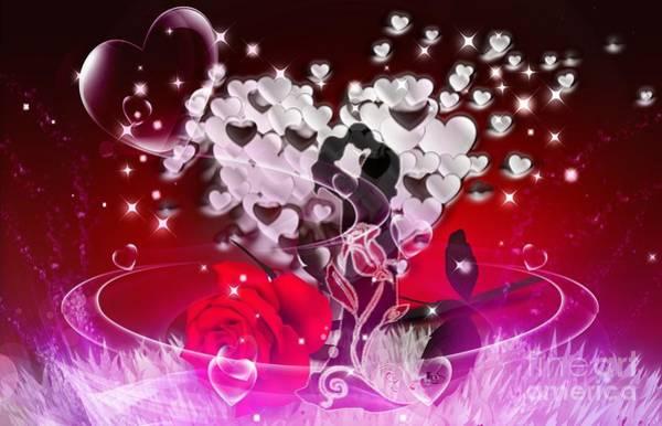 Butterfly On Flower Digital Art - Just Love by LDS Dya