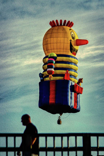 Wall Art - Photograph - Just Passing Through  Hot Air Balloon by Bob Orsillo
