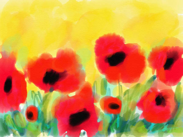 Digital Art - Just Poppies by Cristina Stefan