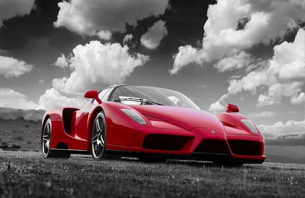Photograph - Just Red 1 2002 Enzo Ferrari by Scott Campbell