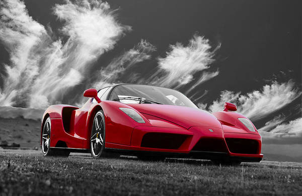 Photograph - Just Red 2 2002 Enzo Ferrari by Scott Campbell