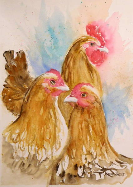 Painting - Just The 3 Of Us by Anna Jacke