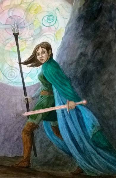 Sword And Sorcery Painting - Just  Touch Of Magic by Judy Riggenbach