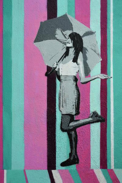 Wall Art - Painting - Just Walking In The Rain by Joachim G Pinkawa