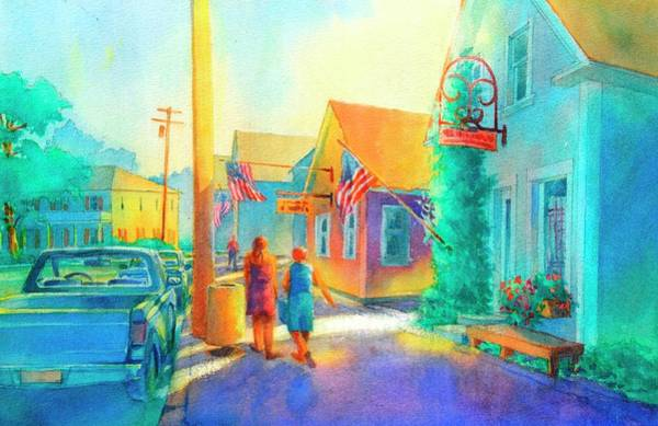 Townscape Wall Art - Painting - Just Window Shopping by Virgil Carter