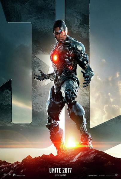 Wall Art - Digital Art - Justice League - Cyborg One Sheet by Geek N Rock