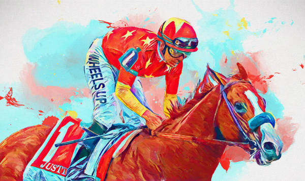 Wall Art - Painting - Justify Horse by Dan Sproul
