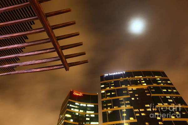 Photograph - Jw Marriott Hotel Lima By Moonlight by James Brunker