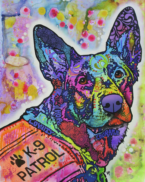 Wall Art - Painting - K9 Patrol by Dean Russo Art
