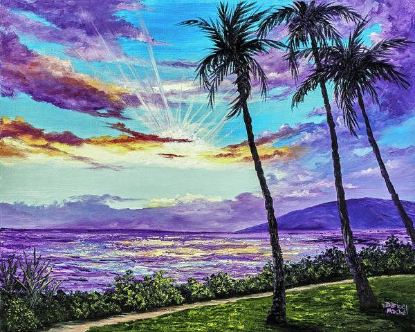 Painting - Ka'anapali Beach Sunset by Darice Machel McGuire