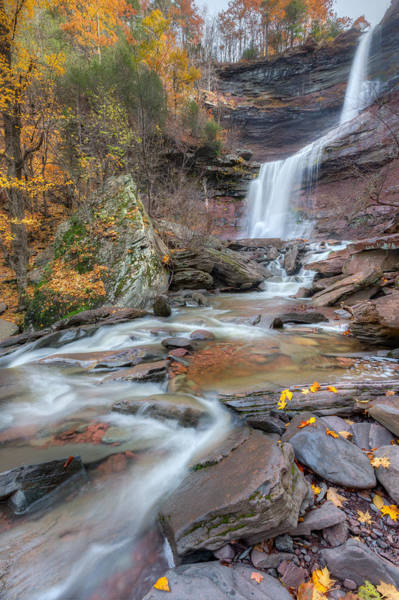 Catskills Photograph - Kaaterskill Falls Autumn Portrait by Bill Wakeley