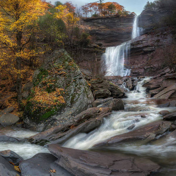 Kaaterskill Clove Photograph - Kaaterskill Falls Autumn Square by Bill Wakeley