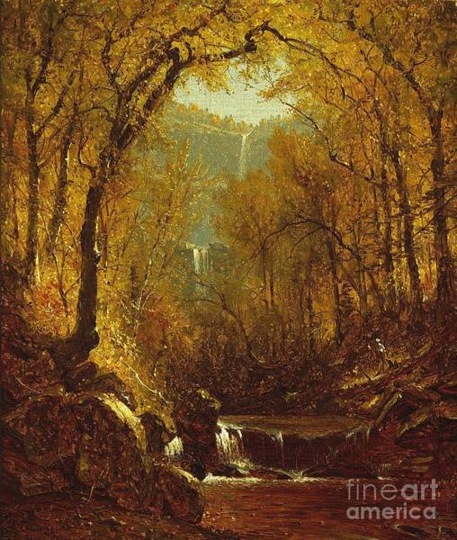 New Leaf Painting - Kaaterskill Falls by Sanford Robinson Gifford