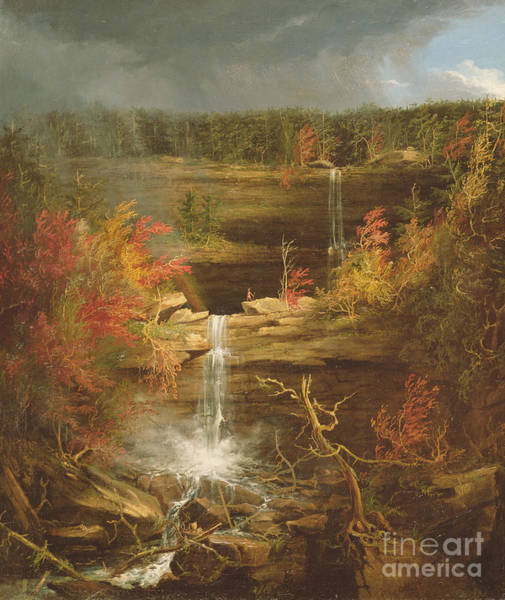 Cascade Painting - Kaaterskill Falls by Thomas Cole