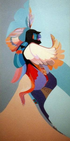 Painting - Kachina Kwahu by Marlene Burns