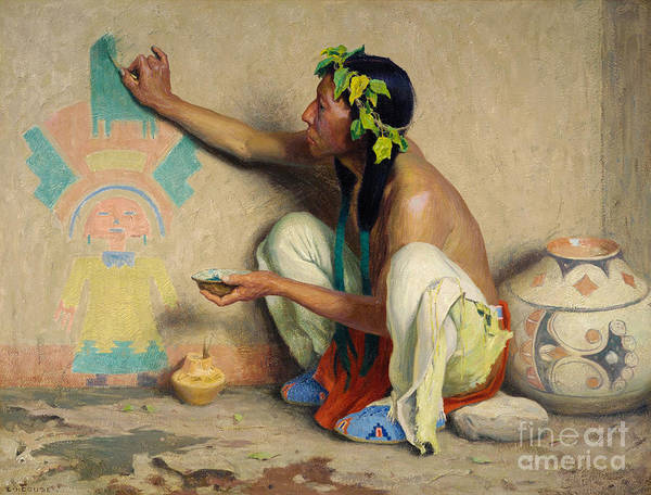 Painting - Kachina Painter by Celestial Images