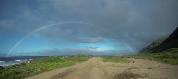 Kaena Photograph - Ka'ena Point Rainbow by Megan Martens