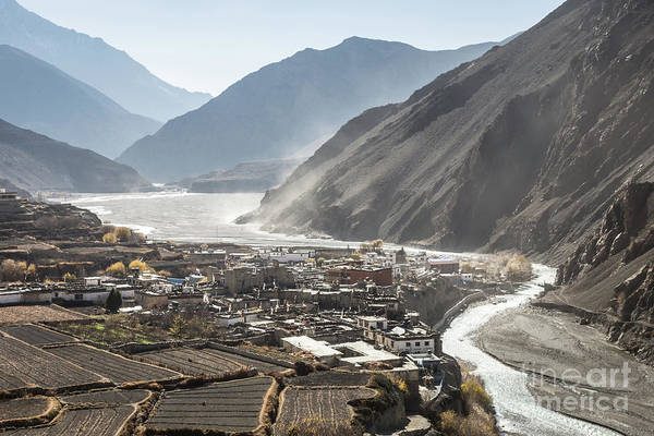 Photograph - Kagbeni Village In The Lower Mustang Valley In Nepal by Didier Marti