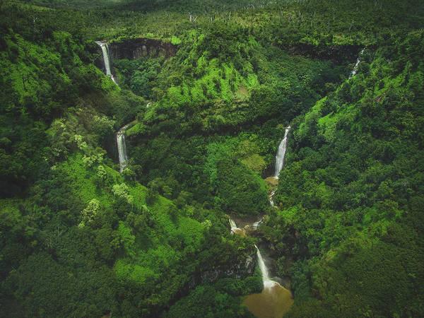 Kahili Falls Aerial Art Print