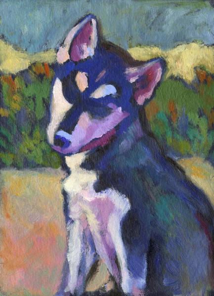Painting - Kaila Puppy by Linda Ruiz-Lozito