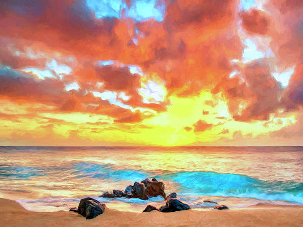 Painting - Kailua-kona Sunset by Dominic Piperata