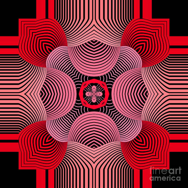 Kaleidoscope Wall Art - Digital Art - Kal - 37bc77 by Variance Collections