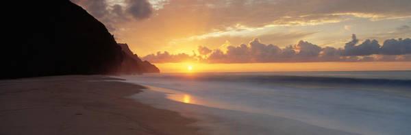 Leisurely Photograph - Kalalau Beach Sunset, Na Pali Coast by Panoramic Images