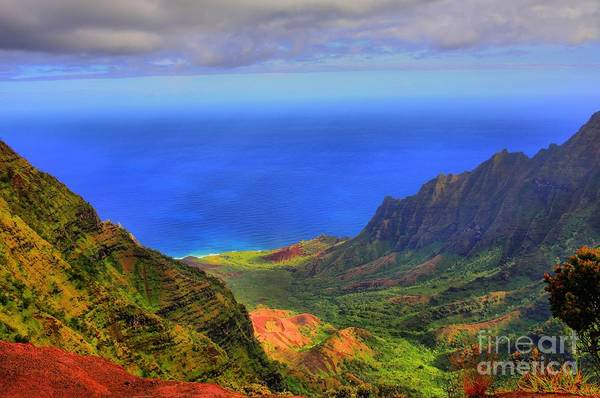 Hawaiiana Photograph - Kalalau Valley by DJ Florek