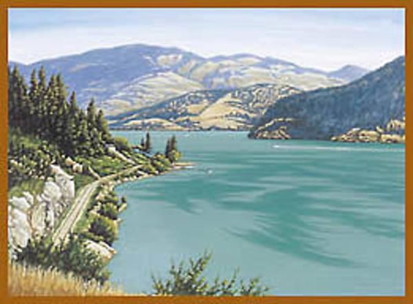 Okanagan Valley Painting - Kalamalka Lake by Mal Gagnon