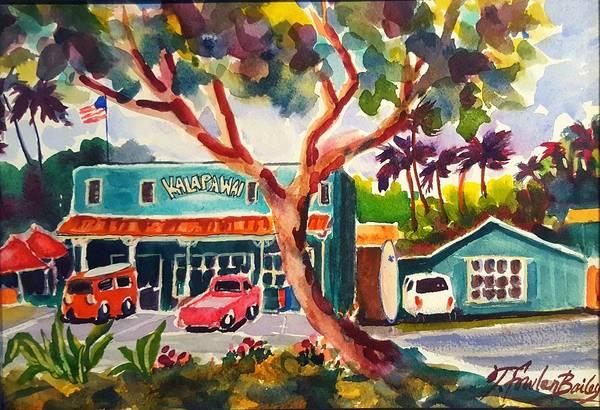 Deli Wall Art - Painting - Kalapawai Mkt  Kailua by Therese Fowler-Bailey