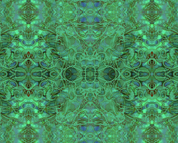 Mixed Media - Kaleid Abstract Emerald by Kristin Doner
